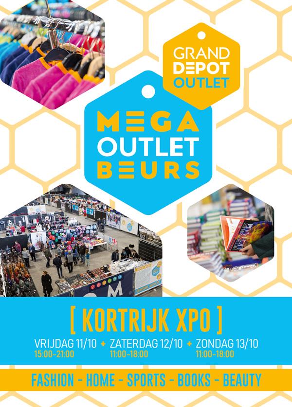 flyers event Mega Outlet Beurs Kortrijk